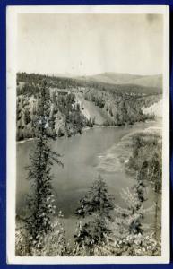 Kootenai River view Idaho id real photo postcard RPPC