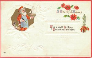 Santa Claus Vintage Postcard A Cheerful Xmas Embossed 03.31