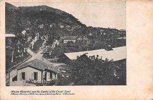 Ancon Hospital and the Capitol of the Canal Zone, very early postcard, Unused