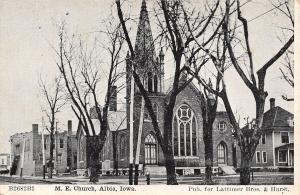 Albia IA United Methodist Episcopal Church~Neighborhood 1910 Lattimer & Hurst