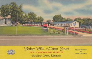 Kentucky Bowling Green Baker Hill Motor Court Curteich