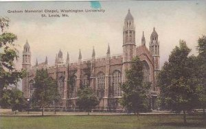 Missouri St Louis Graham Memorial Chapel Washington University Handcolored Al...