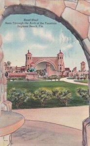 Florida Daytona Beach Band Shell Seen Through The Arch Of The Fountain 1951