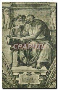 Postcard Old Citta del Vaticano Cappelle Sistina Michelangelo The Cumaean Sibyl