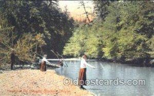 Umpqua, Southern Oregon, USA Fishing Postcard Post Card Unused