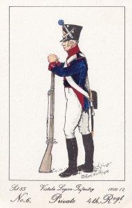 Vistula Legion Infantry Polish Private 4th Regt Soldier Napoleonic War Postcard
