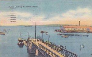 Maine Rockland Public Landing  1953