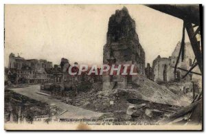 Old Postcard Arras Panorama of the city & # 39hotel and the cathedral Army