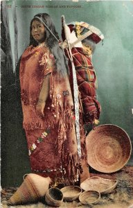 F66/ Native American Indian Postcard c1910 Piute Indian Woman Papoose 13