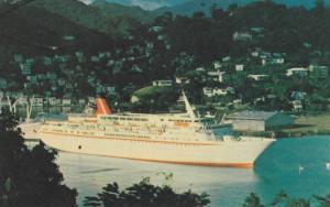 m.v. Cunard Princess in harbour , GRENADA , PU-1980