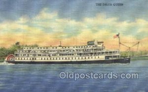 Delta Queen Ferry Boat, Ferries, Ship Unused small pin hole in card, rest of ...