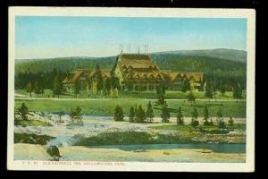 WY, Yellowstone National Park, Wyoming Old Faithful Inn, C.T. American Art