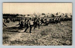 A German Charge Fixed Bayonets, World War II, American Lines Vintage Postcard