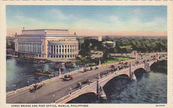 Philippines Manila Jones Bridge and Post Office Curteich