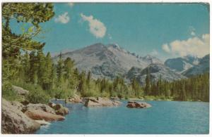 Bear Lake, Rocky Mountain National Park, Colorado, 1953 used Postcard