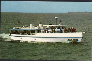 Florida ~ Deluxe 65 ft. Party Fishing Boat DOLPHIN Gulf of Mexico 1950s-1970s