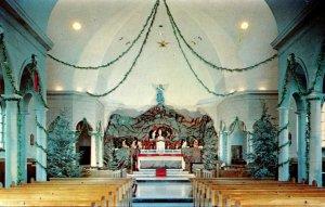 New York Wappingers Falls Mt Alvernia Seminary Christmas Display In Chapel