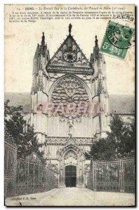 Old Postcard Sense South Portal Cathedrale said Moise Portal