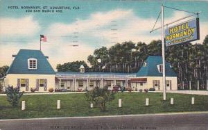 Florida Saint Augustine Hotel Normandy 304 San Marco Ave 1963