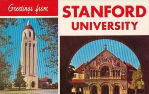 Greetings From Stanford University Stanford Chapel Hoover Library Tower 285 F...