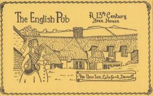 Coleford Devon New Inn Village Public House Pub Liimited Edition 100 Postcard