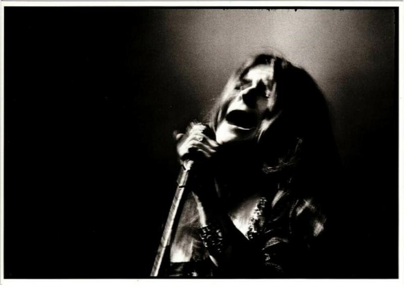 JANICE JOPLIN POSTCARD Pictured At The Anderson Theatre New York City 1968 NEW