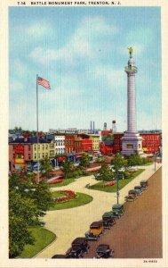 New Jersey Trenton Battle Monument Park 1939 Curteich
