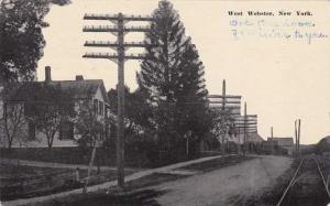Tracks along Street in West Webster NY, New York - pm 1911 - DB