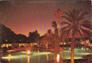 Night View, Water Fountain, Del Webb's Mountain Shadows Resort, Scottsdale, A...