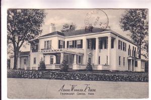 B&W Abner Wheeler House, Framingham Central, Massachusetts, Postage Due Stamp,