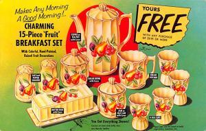 Breakfast Set Advertising Typing on back