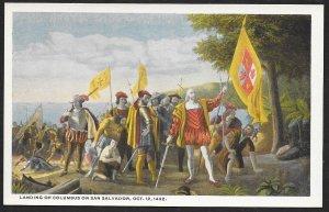 Painting Landing of Columbus on San Salvador Washington DC Unused c1910s
