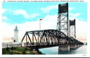 Washington Vancouver Interstate Highway Bridge Over Columbia River Curteich