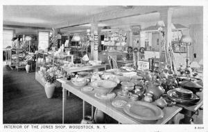 Woodstock New York Jones Shop Interior Vintage Postcard K20730