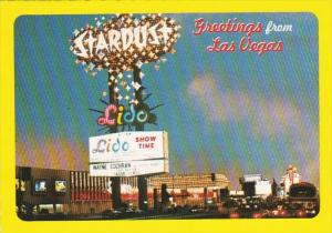 Nevada Las Vegas Greetings Showing The Stardust Hotel
