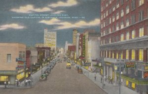 JACKSON, Mississippi, 30-40s; Capitol St. looking East, Old Capitol in distance