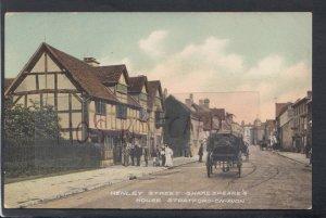 Warwickshire Postcard- Henley Street,Shakespeare's House,Stratford-On-Avon HP631