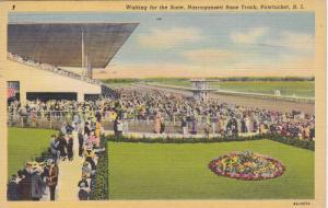 Waiting for the race,Narragansett Race Track, Pawtucket, Rhode Island,PU-1942