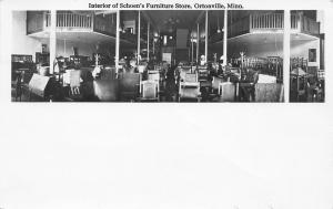Ortonville MN~Schoen's Furniture~Our Store Interior~Desks~Brass Beds~1917 RPPC