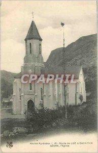 Old Postcard Hautes Pyrenees Luz Road has Gavarnie Gedre Church