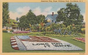 American Flag Garden ar Roger Williams Park - Providence RI Rhode Island - Linen