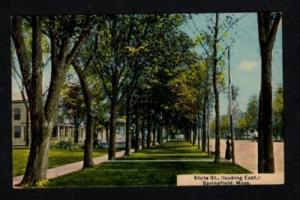 MA State St SPRINGFIELD MASSACHUSETTS Postcard Mass PC