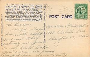 Charleston South Carolina~Ashley River Memorial Bridge~$1,200,000~1944~Linen