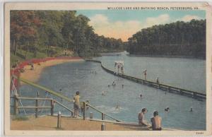 1941 PETERSBURG Virginia VA Postcard WILLCOX LAKE Bathing BEach Swimmers