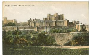 UK, Dover Castle from East, early 1900s used Postcard