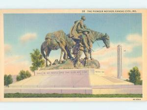 Unused Linen MONUMENT SCENE Kansas City Missouri MO F2166