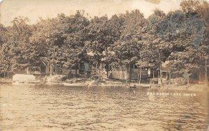 G18/ Lake James Indiana RPPC Postcard 1917 Basin Cottages Lakeshore