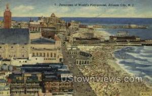 Atlantic City, New Jersey, NJ, Post Card Atlantic City NJ Writing On Back