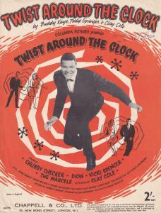 Twist Around The Clock Chubby Chucker 1960s Sheet Music