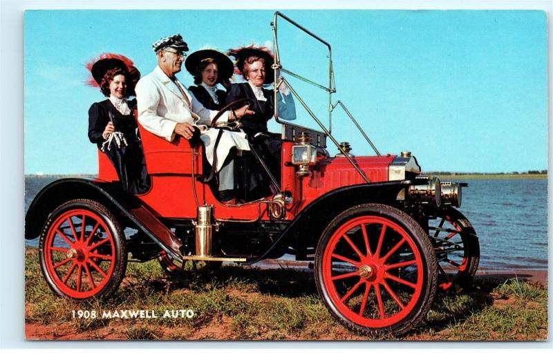Greetings from Walkerville Michigan 1908 Maxwell Auto Car Vintage Postcard A92